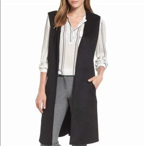NWT Halogen Nordstrom Black Long Vest